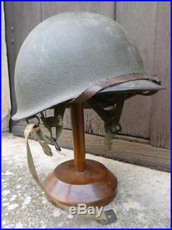 CASQUE PARACHUTISTE US WW2 / NORMANDIE / 1944