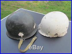 CASQUE US M1 101EME AIRBORNE ORIGINAL 506 th WW2 ARDENNES / ALLEMAGNE 39/45