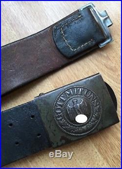 CEINTURON daté 1943 avec sa BOUCLE datée 1941 militaria allemand WW2 en tbe