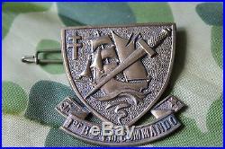 COMMEMORATIF DE L'INSIGNE DU 1er BATAILLON COMMANDO KIEFFER Pour le 06 JUIN 1974