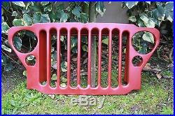 Calandre Avant Jeep Willys MB Protege Radiateur En Appret Rouge / Neuf