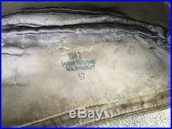 Calot luftwaffe daté 1942 prise de guerre