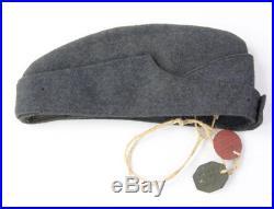 Calot troupe RAF avec plaques d'identité WW2 (matériel original)