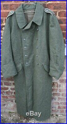 Capote en laine de l'armée allemande 2e guerre XXL promo