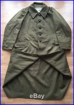 Capote modèle 1938 France 40 manteau troupes Infanterie Génie 38 1939 drap kaki