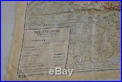 Carte D Evasion En Soie USA Ww2 France Belgique(a) France Espagne (b) 1943 Occas