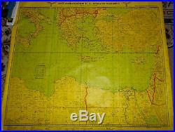 Carte De Navigation Aerienne Allemande -grece Libye-turquie- Egypte-italie 1940
