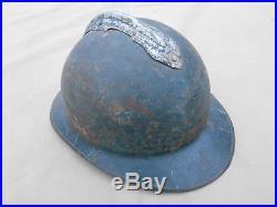 Casque Adrain Modele Essai 1923 Bleu Horizon Kaki Chasseur