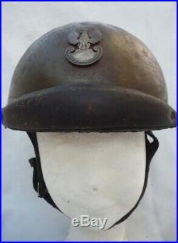 Casque Adrian M. 35 Tankiste Polonais Brigade Maczek, 1940