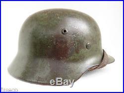 Casque Allemand 2ww. 1939/1945. MOD 40.2 insignes 100/100 origine. HERR. COMPLET