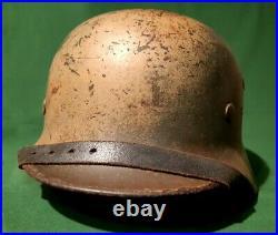 Casque Allemand Camouflé Normandie WW2
