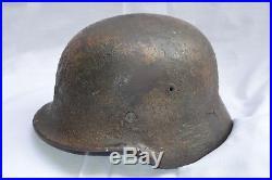 Casque Allemand Mod. 1940-camoufle-german Helmet Camo-deutsche Stalhelm-normandie