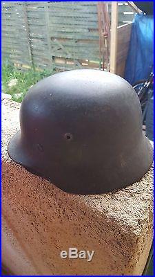 Casque Allemand modèle 35 + couvre casque élite