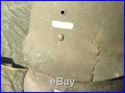 Casque M1 complet sous lieutenant Indochine grade peint