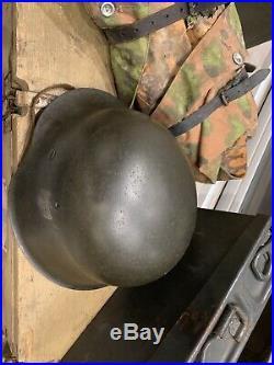 Casque M42 KriegsMarine Parfait! Allemand 2WW WK2 39/45 Authentique