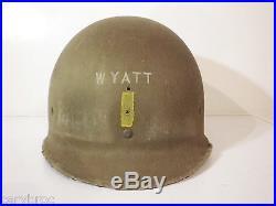 Casque Officier US liner 1er type états-unis libération Normandie 1944 FFL 39-45