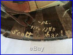 Casque Original US M1 Fix Bale WWII complet Campagne de Normandie Coutances
