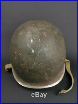 Casque USM1 Commandant Armée De Libération Ww2 Indo France Firestone