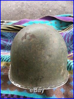 Casque US M1 Coloniale Service Santé. Libération