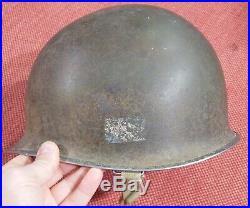 Casque US M1 WW2 / Coloniale / Provence / 1ère ARMEE / Nominatif