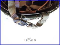Casque US M1 complet, attaches mobiles, avec filet larges mailles WW2 / 2e GM