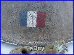 Casque US M1 drapeau Français De Gaulle