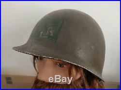 Casque US WW2 WWII US pattes fixes liner 523B 43 army