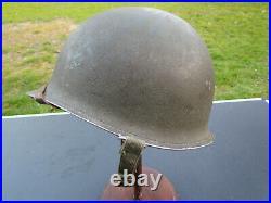 Casque Usm1 Infanterie Pattes Mobiles 1944 Original Ww2 Us Army Usmc