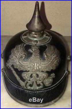 Casque à pointe Prussien modele 1915 fabrication ersatz