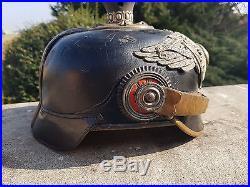 Casque a pointe prussien officier de la garde WW1 HAARBUSCH-PICKELHAUBE