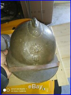 Casque adrian ww2 médecin GSRCA8 cavalerie