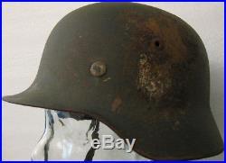 Casque allemand Landser m35 2 insignes Heer jamais touché