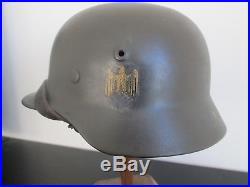 Casque allemand M40 Kriegsmarine stalhelm dénazifié German helmet
