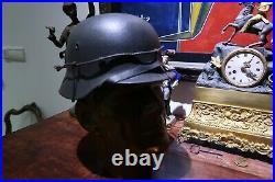 Casque allemand M40 ww2 avec son fil de fer d'origine KRIEGSMARINE