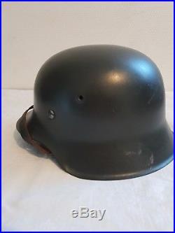 Casque allemand M 42 guerre 39 45 WW2 / German helmet Shell M 42 WWII