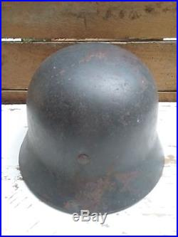 Casque allemand WW2 WWII modèle M40 militaria 39 45 100% complet d'origine