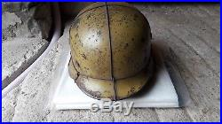 Casque allemand WW2 sable