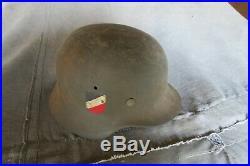 Casque allemand modèle 40 39-45 WW2 Stahlhelm helm camo