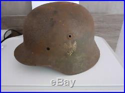 Casque allemand ww2 camouflé militaria 39 45