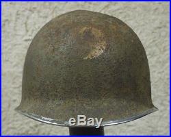 Casque américain WW2 29è DI US insignes pontets fixes 29th