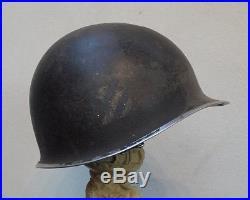 Casque américain WW2 3è DI US insignes et matricule pontets fixes