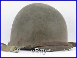 Casque américain USM1 pontets fixes MILITARIA ORIGINAL US WWII