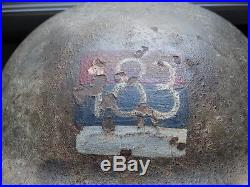 Casque anglais canadien avec insigne d'artillerie