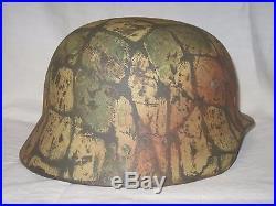 Casque camo 2eme guerre mondiale