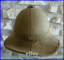 Casque colonial italien vert d'époque seconde guerre mondiale, Mle 1935 WW2