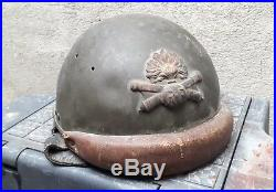 Casque d'essai modele 35/37 en 35/40 tankiste artillerie stahlhelm helmet Adrian