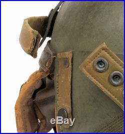 Casque de tankiste US WW2 -5- (matériel original)