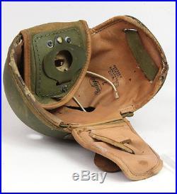 Casque de tankiste US WW2 -9- (matériel original)