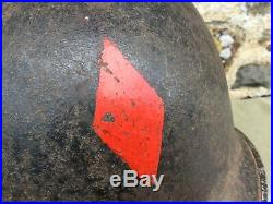 Casque lourd US 5ème DI red diamond original 1943