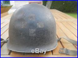 Casque lourd helmet us navy army medic corpsman dday wwII